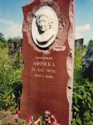 Tumba de África de las Heras, Patria, la espía española de la KGB