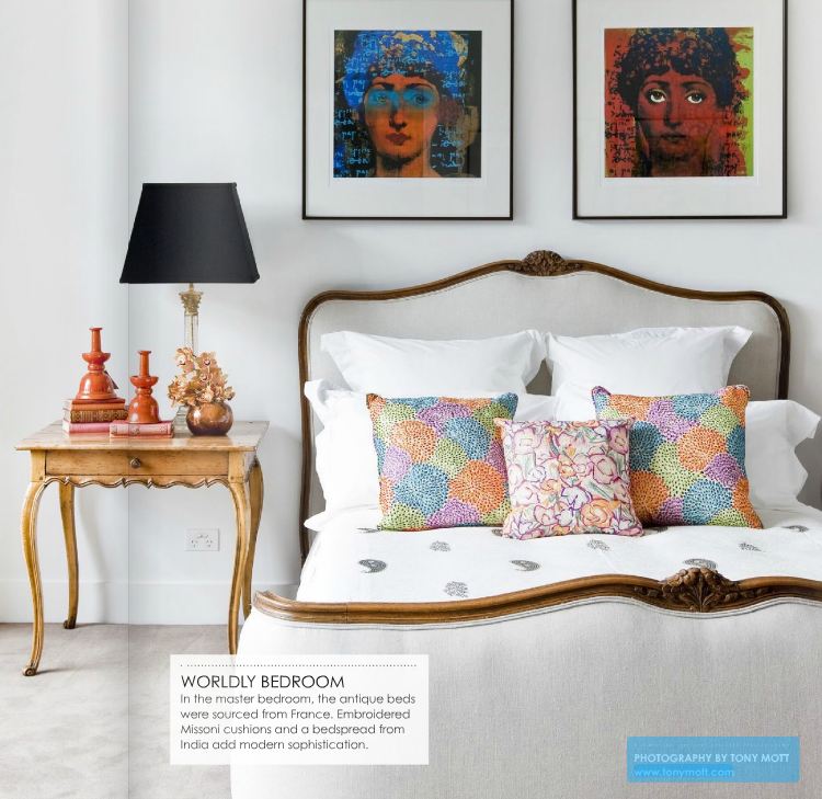 indian antique french cushions. Lucy Used Lots Of Colour To Create Her Classic Bohemian Style Home Which She Has Mixed Cleverly With Vintage Pieces Like The Incredible Buffet Featuring In Indian Antique French Cushions