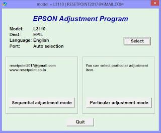 Goel Technologies: Adjustment Program For Epson L3110 Printer