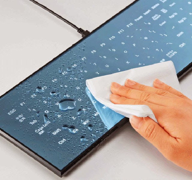 cool unique keyboard design-Cool Leaf Touch screen Keyboard