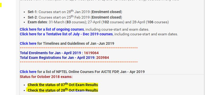 Nptel Exam Pattern: [Official] How to Check Result of Nptel Exam |