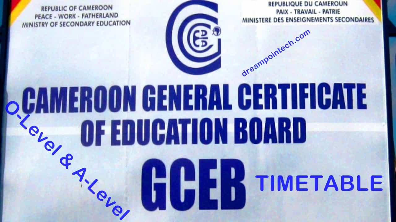 Cameroon GCE Board Timetable 2021 Pdf (Ordinary & Advanced)