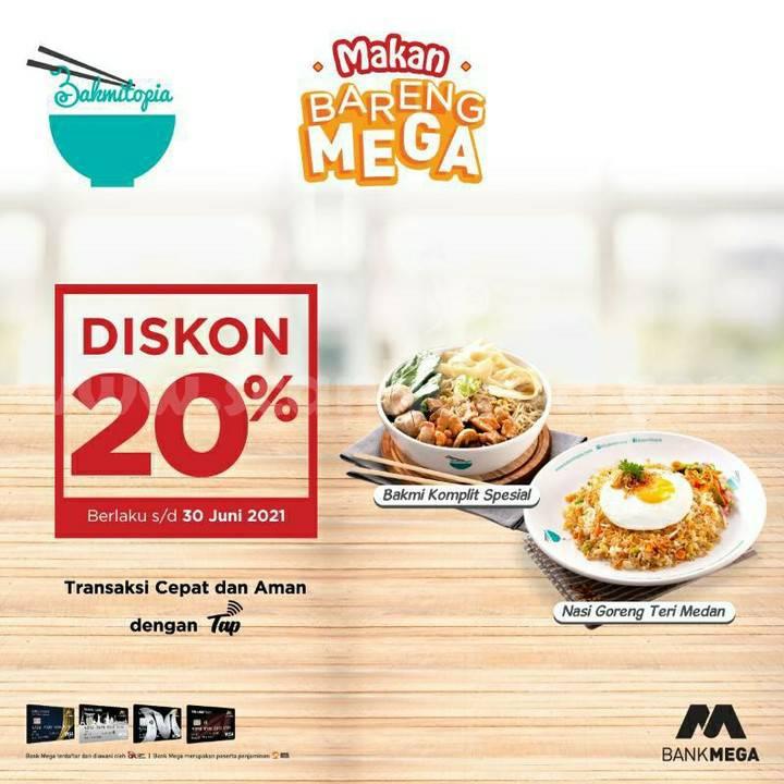 BAKMITOPIA Promo Diskon 20% dengan kartu kredit BANK MEGA