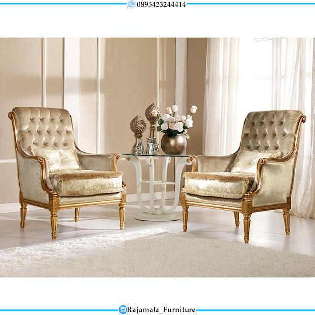 Elegant Design Kursi Sofa Mewah Set Coffee Table Luxury Jepara RM-0535