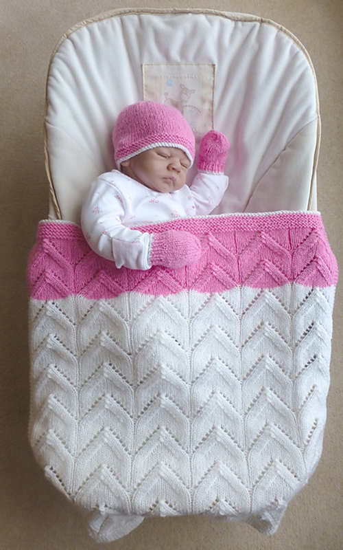 Arches Baby Blanket, Hat, and Mittens - Free Pattern