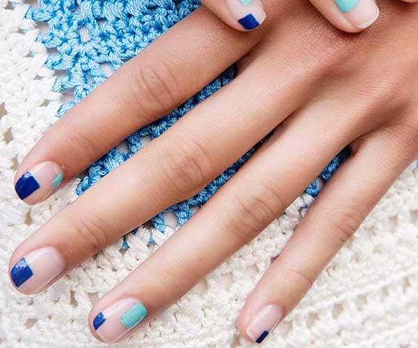 Cute Nail Designs with Simple Squares