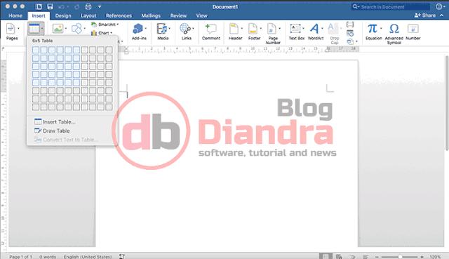 we can use table menu in insert menu in Microsoft Word