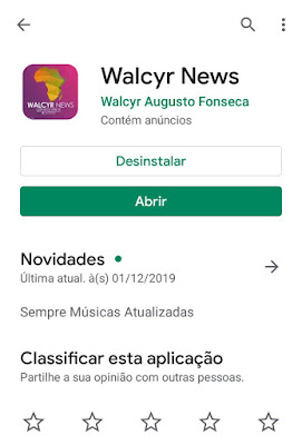 Walcyr News app no Google play Store