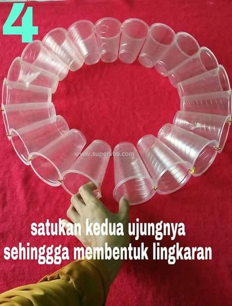 Daur Ulang Botol Aqua Gelas : ulang, botol, gelas, Menarik, Mudahnya, Membuat, Lampion, Gelas, Plastik, Untuk, Memperindah, Sekolah, Supervba