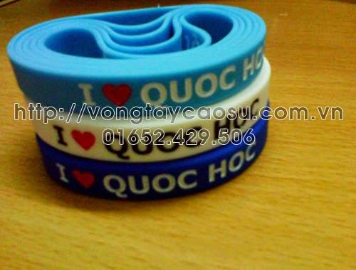 Vòng tay cao su I love Quoc Hoc