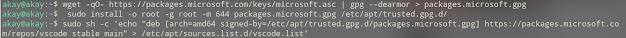 install vscode editor in debian system