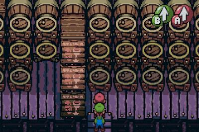 El Pequeño Rincón de los Grandes RPG - Mario & Luigi Superstar Saga - Barriles amontonados