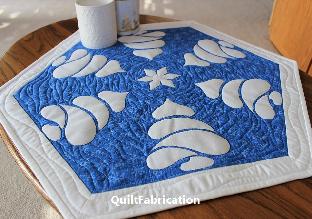 Winter Forest table topper by QuiltFabrication