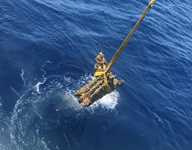 Two bronze warship rams discovered at the Battle of the Egadi Islands