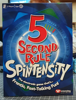 5 Second Rule Spintensity Game box front with large text