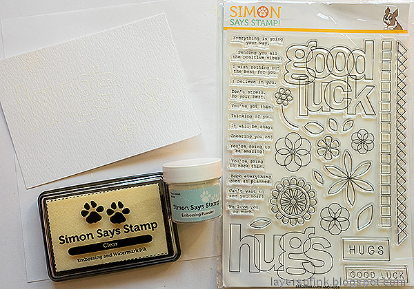 Layers of ink - Hugs Watercolor Card Tutorial by Anna-Karin Evaldsson. Stamp with Luck and Hugs.