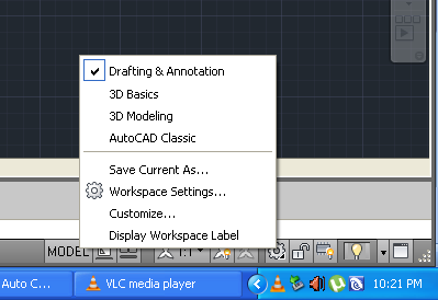 Post 2 Setting Workspace Switching Go Auto Cad
