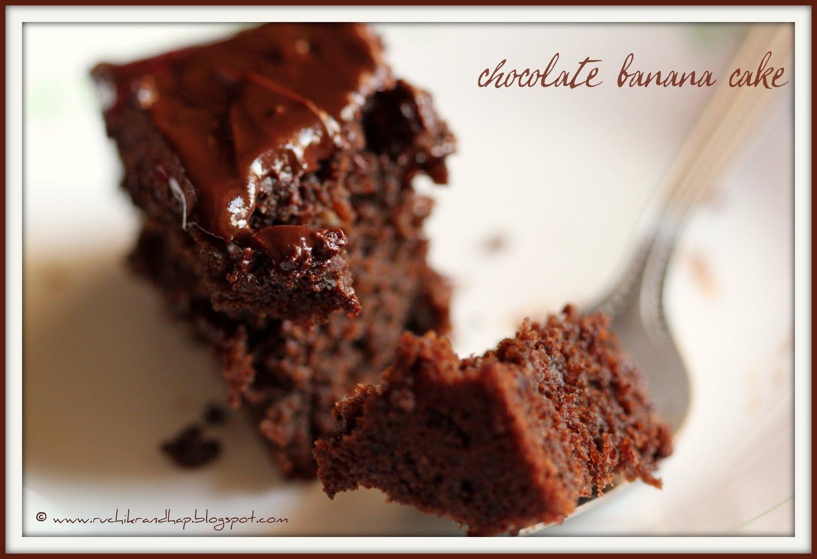 Banana Cake Recipe Chocolate Icing: Ruchik Randhap (Delicious Cooking): Going Bananas