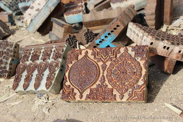 Wooden blocks of Ajrakh printing, Bhuj