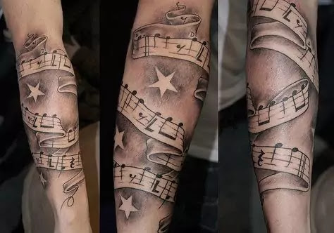 Arm Tattoos Music Notes Best Tattoo Ideas