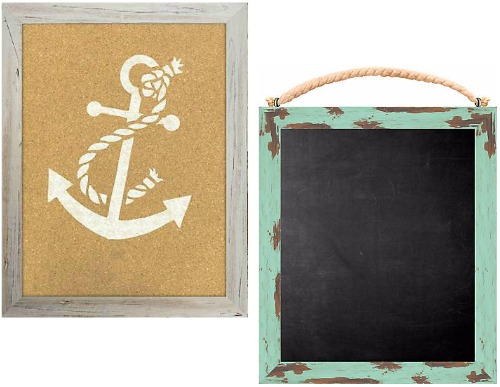 Nautical Message Corkboard / Chalkboard