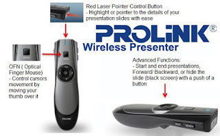 Wireless Presenter Prolink PWP 102G | Bali Komputer