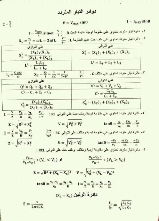 لطلاب الثانوية العامة.. قوانين واستنتاجات الفيزياء كل فصل في صفحة  14