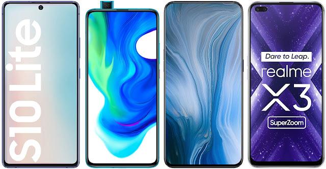 Samsung Galaxy S10 Lite vs Xiaomi Poco F2 Pro vs Oppo Reno 10x Zoom vs Realme X3 Super Zoom