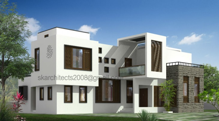 2800 sq ft Modern Indian House Design by SK Architects