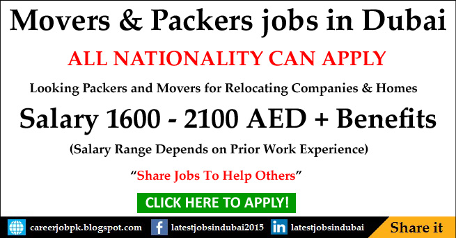 Movers and Packers jobs in Dubai