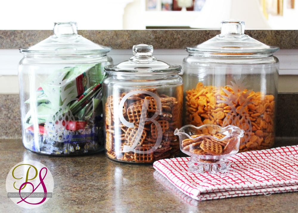 Faux Etched Glass Snack Jars Positively Splendid Crafts Sewing Recipes And Home Decor