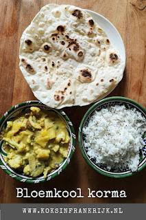 Vega(n) korma, Indiase stoof met bloemkool, champignons en amandelen