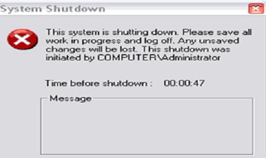 """حل مشكلة رسالة """"This System Is Shutting Down"""" بان جهازك سينطفئ حالا"""