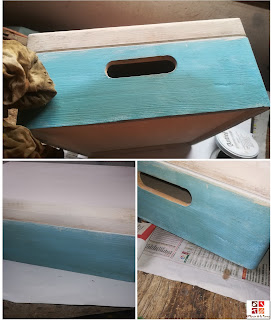 pintar una caja de madera