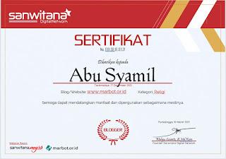 sertifikat blogger