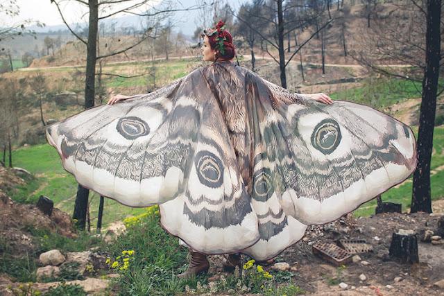 Belos lenços artesanais são inspirados em Asas de Borboletas
