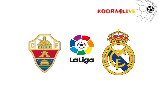 تفاصيل مباراة ريال مدريد و إلتشي