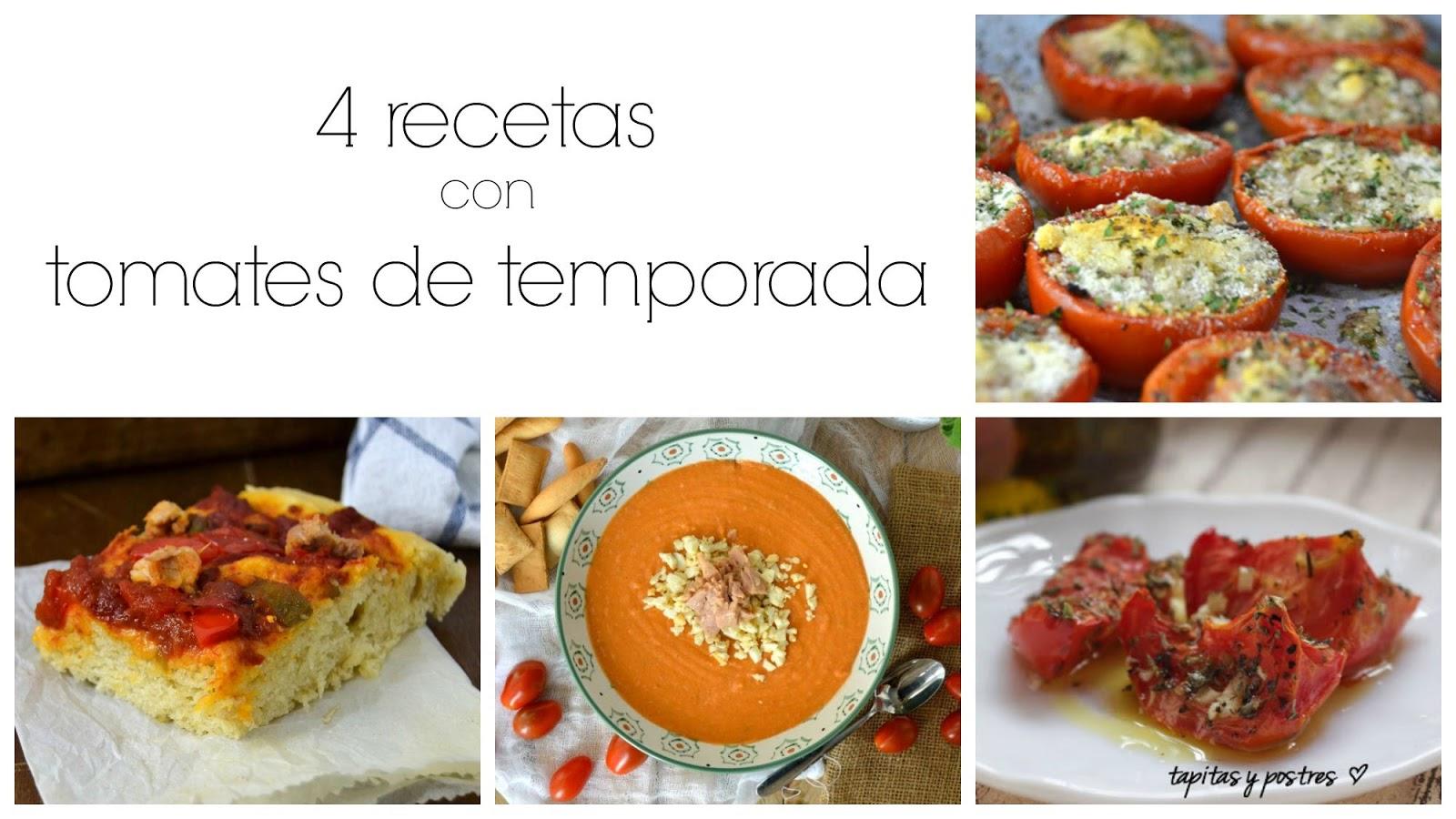 Recetas con tomates maduros