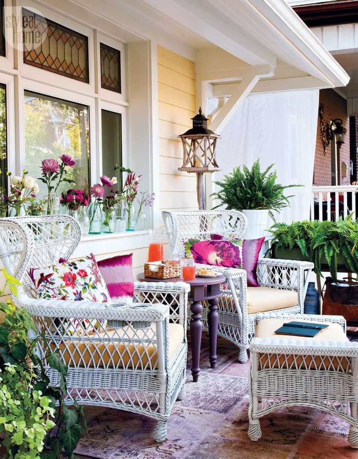 Rattan Furniture in Beautiful Outdoor Space