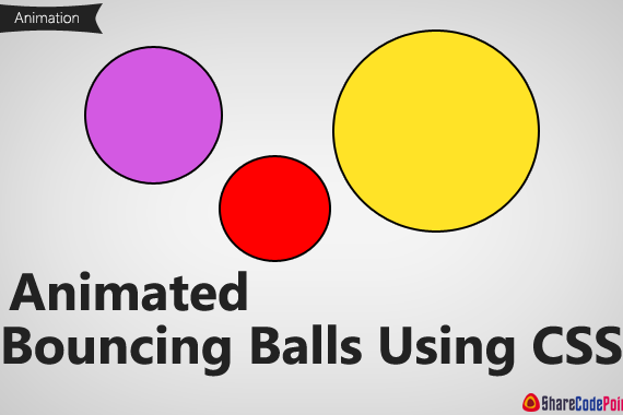 Animated Bouncing Balls Using HTML  and CSS3