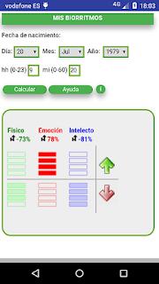 pantallazo aplicacion calcular biorritmos