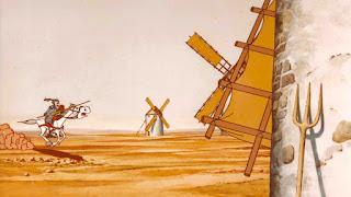 Fotograma de la serie Don Quijote de la Mancha emitida por TVE en 1979.
