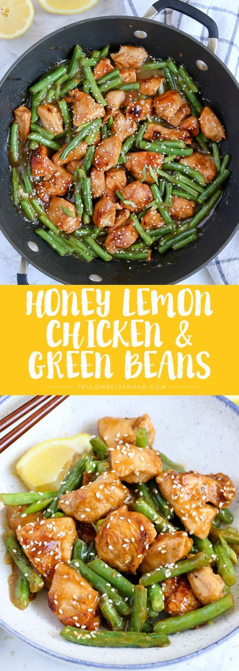 Honey Lemon Chicken and Green Beans #chicken #chickenrecipes #greenbeans #greenbeansrecipes #easyrecipes #honeylemonchicken