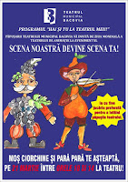 Pe 21 martie, Ziua Animatiei se sarbatoreste la Teatrul Municipal Bacovia!