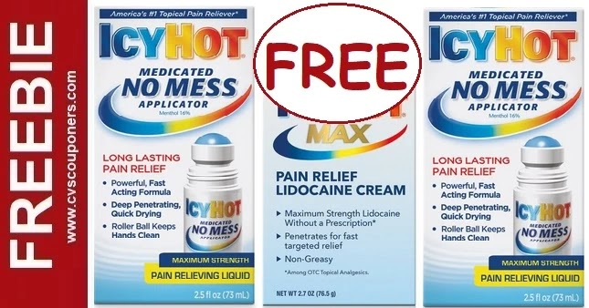 FREE Icy Hot Pain Relief CVS Deals