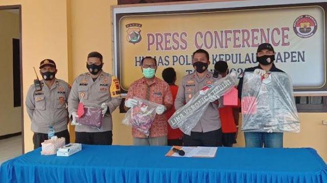 Polres Kepulauan Yapen Amankan 2 Pelaku Pembunuhan