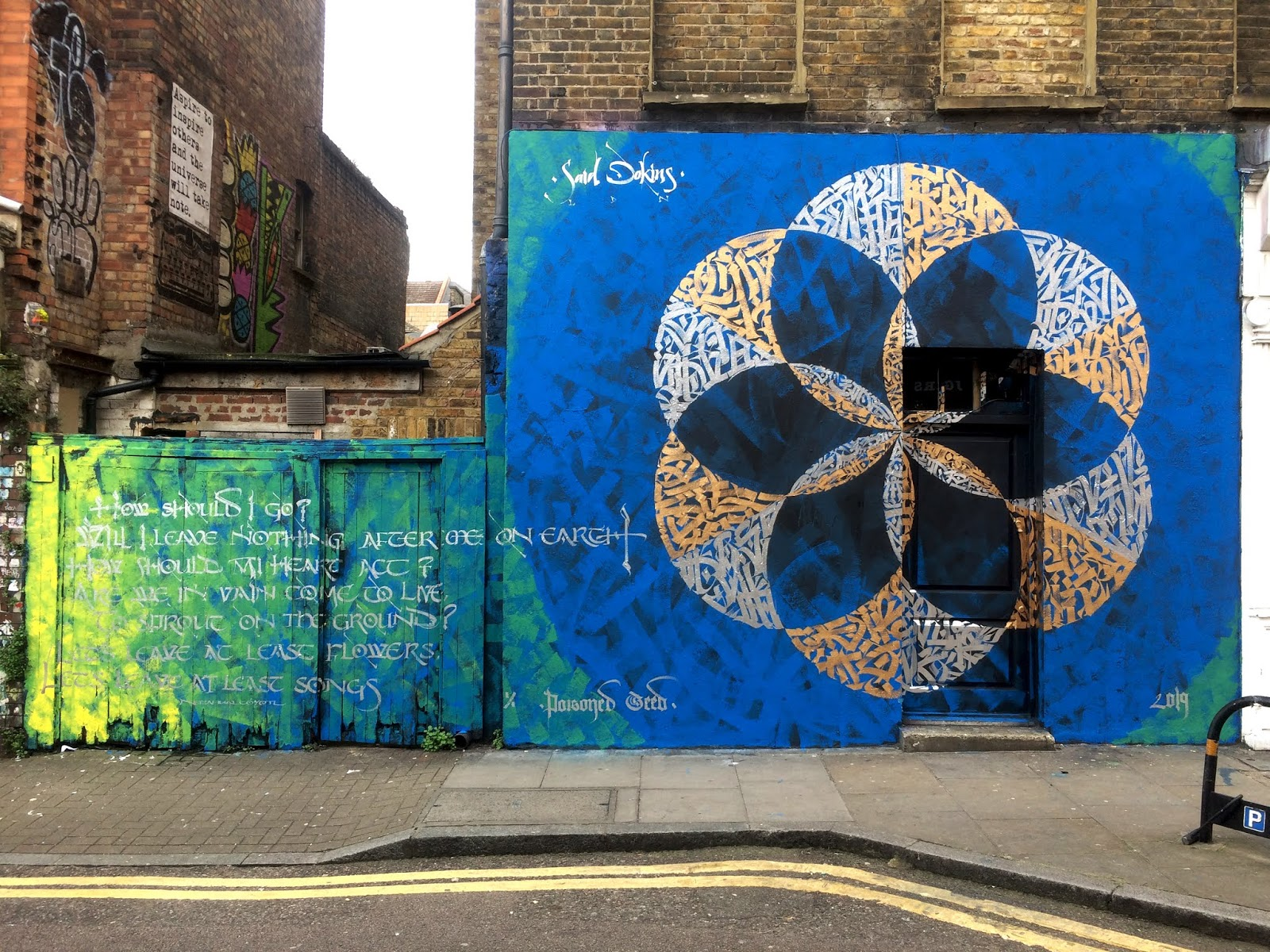 Un mural de Said Dokins para el centro de Londres muestra los razgos de su caligrafía y el poder de sus trazos