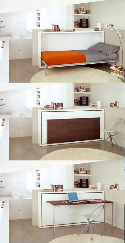 Meja Kerja multifungsi sekaligus tempat tidur