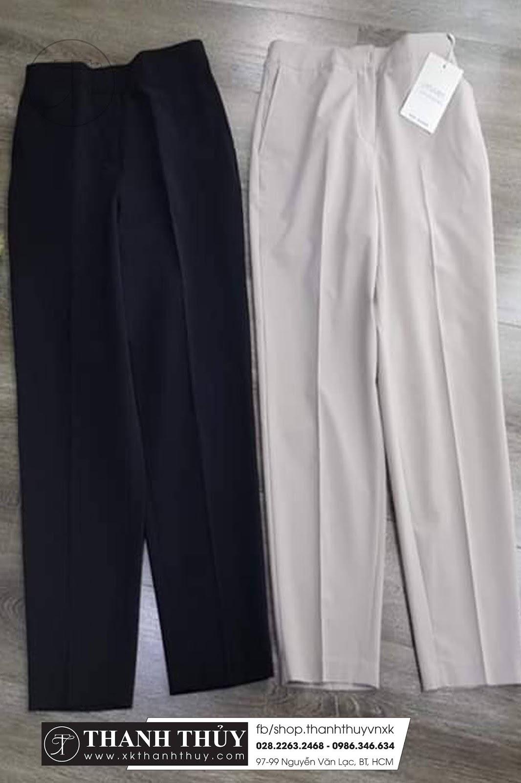 Quần tây xuất Hàn chất vải co giản, mềm mại hàng xuất Hàn Quốc