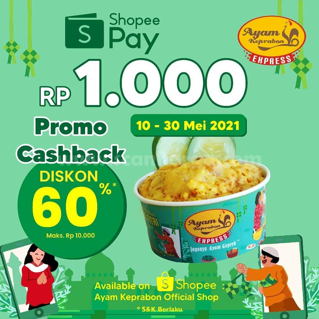 Ayam Keprabon Promo ShopeePay Cashback 60%
